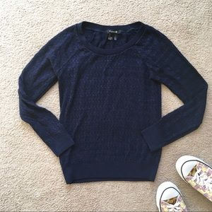 Forever 21 textured knit navy blue sweater sz S